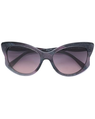 Gemusterte Cat-Eye-Sonnenbrille