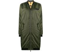 zipped parka coat