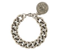 twisted pattern skull embellished bracelet