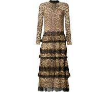 Seidenkleid mit Leopardenmuster