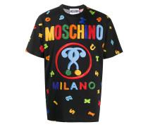 T-Shirt mit Magnete-Print