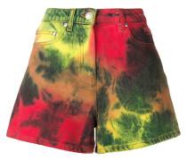 Jeansshorts im Batik-Look