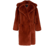 Oversized-Mantel aus Faux Fur