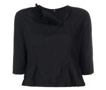 cropped asymmetrical neck blouse