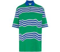 Oversized-Poloshirt mit Streifen