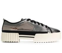 Flatform-Sneakers mit Spiegeleffekt