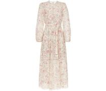 'Honour' Kleid mit Lochstickerei