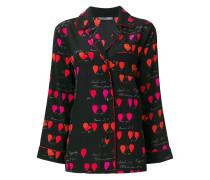Seidenhemd mit Blüten-Print