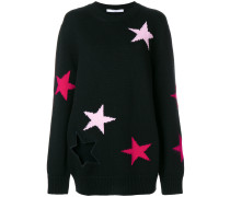 stars embroidered sweater