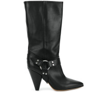 high ankle boots with ring detail