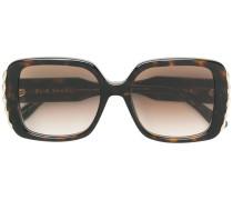 metal embellished square sunglasses