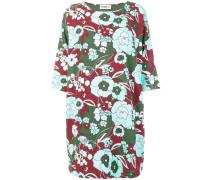 floral short-sleeve shift dress