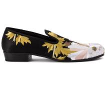 Loafer aus floralem Jacquard