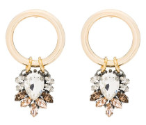 Vergoldete Ohrringe mit Swarovski-Kristallen