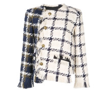 checked panel jacket