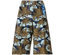 palm print shorts
