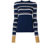 slim-fit striped pullover