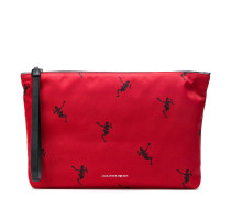 Clutch mit Skelett-Print
