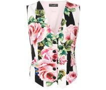 rose print waistcoat