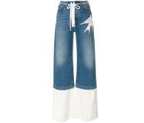 Jeans mit Vogel-Motiv
