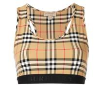 house check sports bra