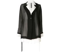contrast sheen cover blazer