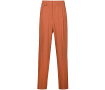 high waisted loose fit trousers