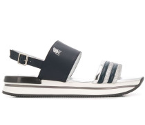 'H257' Flatform-Sandalen