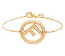 metallic logo bracelet