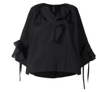 loose fit ruffled blouse