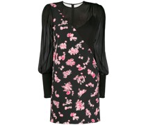 panelled floral mini dress