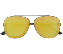 tonal frame effect sunglasses