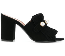 pearl fringed mules