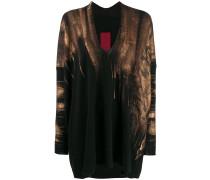 Pullover mit Pinselstrich-Print