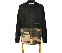 Hemd mit Camouflage-Einsätzen