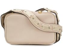stud-embellished camera bag
