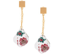suspended flower drop earrings