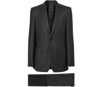 'English Fit' Anzug mit Nadelstreifen