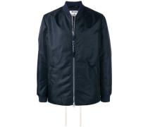 straight hem bomber jacket