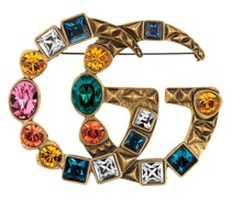 Brosche mit Kristall-GG