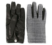 Handschuhe mit Hahnentrittmuster