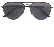 aviator logo sunglasses