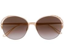 Runde Sonnenbrille mit Swarovski-Kristallen