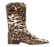 Cowboystiefel mit Leopardenmuster