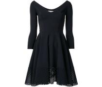 flared fitted mini dress