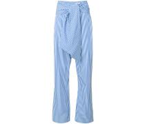 striped tie waist trousers