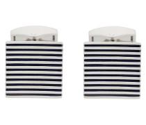 striped square cufflinks