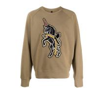 "Sweatshirt mit ""Art School Unicorn""-Patch"