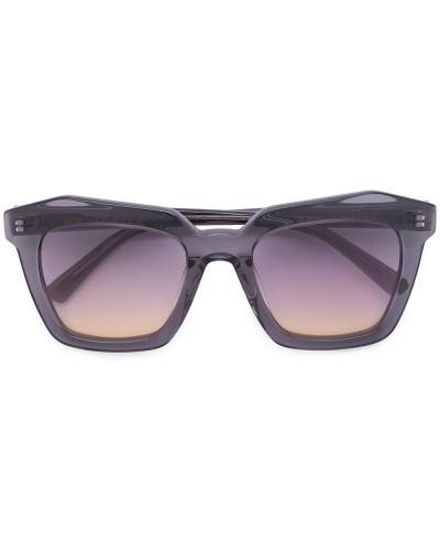 Oversized-Sonnenbrille mit eckigen Gläsern