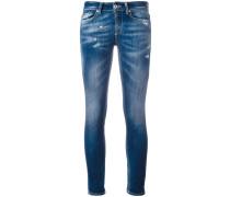 Skinny-Jeans mit Farbeffekt